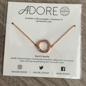 NEW Adore Rose Gold Swarovski Bracelet